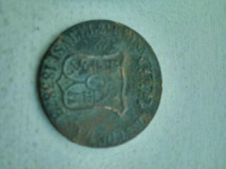 Moneda de 6 cuar 1838