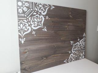 Cabecero o cuadro madera mandalas