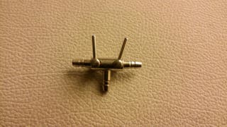 llave metalica filtro oxigenacion acuario