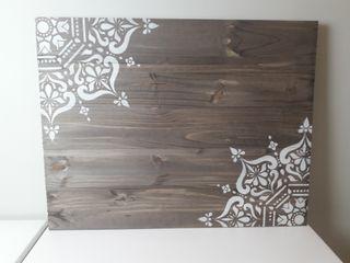 cuadro o cabecero madera mandalas