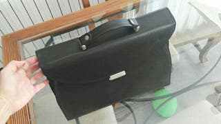 maletín bolso cartera de piel