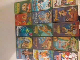 Películas Disney en VHS 2€
