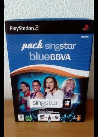 Pack Singstar Blue BBVA OT PS2