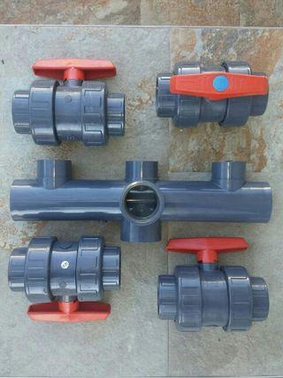 Llaves de bola PVC presión 50mm