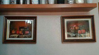 cuadros, decoración marcos de madera.