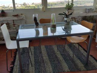 Mesa comedor cristal.