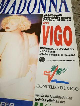MADONNA (Vigo'90) cartel único, muy muy raro