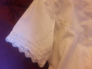 Camisa antigua de huertana ,fallera,Indumentarniña