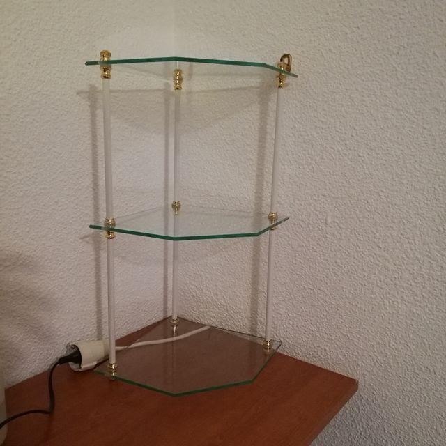 Vitrina de cristal para esquina