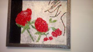 cuadros de rosas abstracto