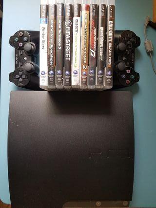 Ps3 + 2 mandos + 10 juegos