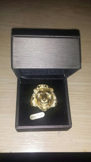 anillo sello de oro 18k primera ley