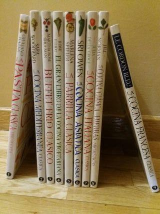 Coleccion libros de cocina rebajado