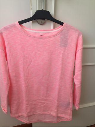 Sudadera rosa niña algodón orgánico - NUEVA