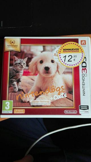 Juego nintendo 3DS Nintendogs + cats