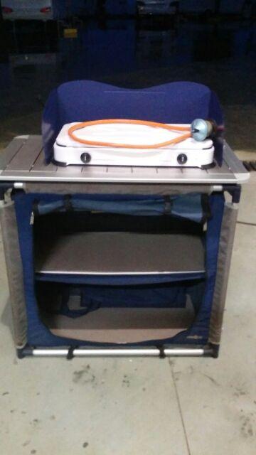 Mueble cocina + cocina camping gaz dos fogones de segunda mano por ...