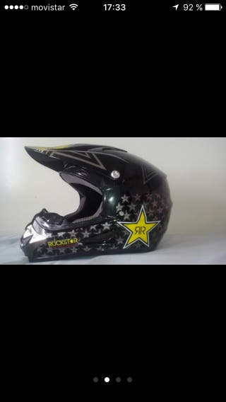 Casco moto rockstar