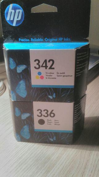 Cartutxos de tinta HP originals HP 342 i 336