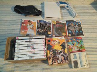 Consola wii + 15 juegos originales