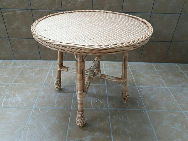 Mesas de mimbre artesanales desde 30cm hasta 1 m de - Mesas de mimbre ...