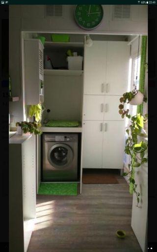 mueble de lavadora secadora