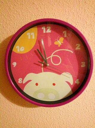 Reloj de pared habitación infantil