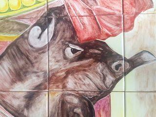 Mural ceramica 35 azulejos