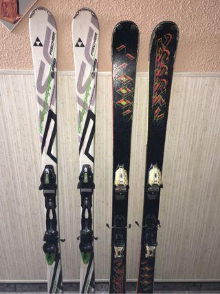 Esquís más fijaciones