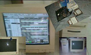 Ordenador, Placa, discos, Procesador y monitor