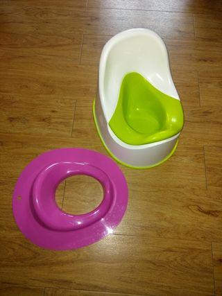 orinal y adaptador para wc
