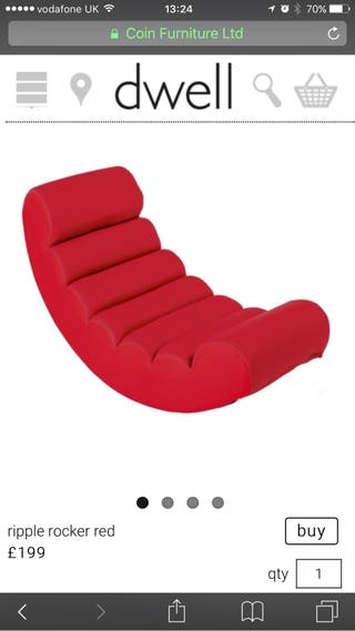 Dwell Red Gaming/Cinema Chair