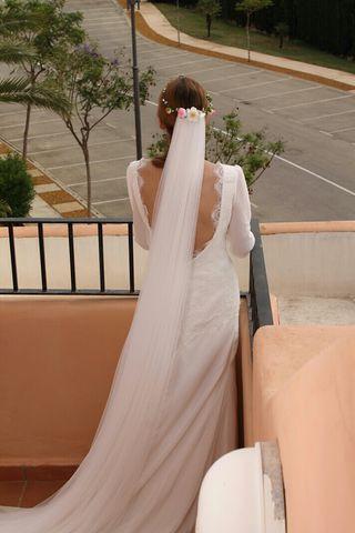 Velo de novia de tul mórbido - articulo nuevo