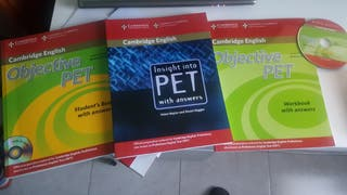 Pack 3 libros Objective Pet + cd