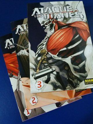 Comic Manga Ataque a los titanes