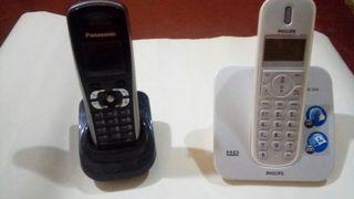 dos telefonos fijos en muy buen estado.