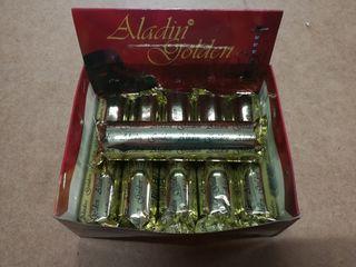 carbon shisha cachimba Aladin golden