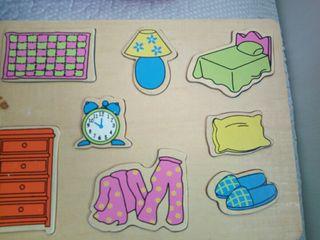 4 puzzles ensartable madera