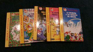 5 libros geronimo stilton como nuevos