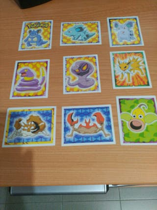 9 Cromos Pokemon