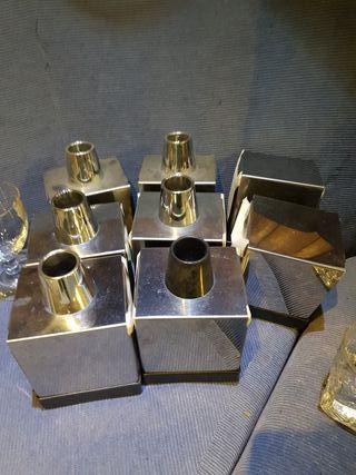 servilleteros de acero inox con palillero