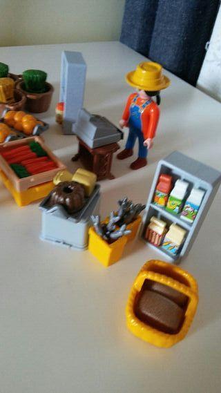 playmobil. puesto de mercado
