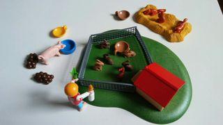 playmobil. conejos, ardillas y un cerdo