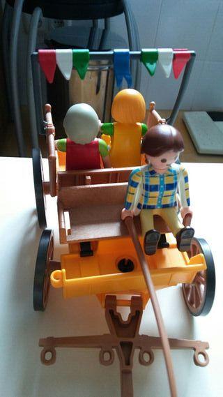 playmobil. carruaje sin caballo