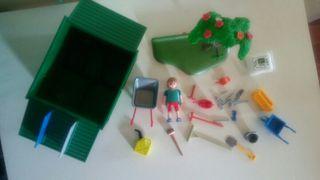 playmobil. caseta de jardin