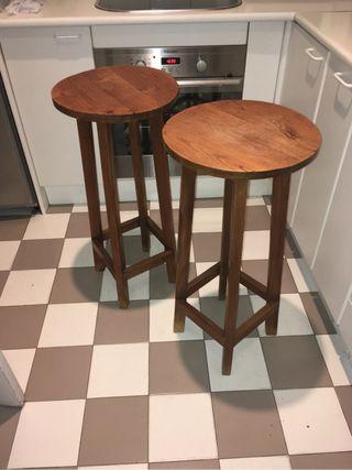Taburetes de madera para cocina y salón
