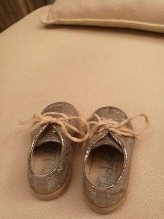 zapato bebe talla 21