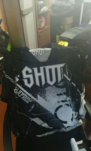 camiseta shot motocross