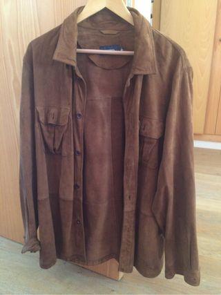 Camisa o chaqueta tipo camisa de ante , sin uso