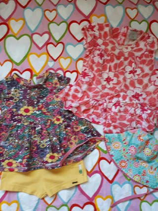 Lote ropa de verano niña 6-9 m