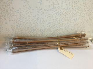 Juego de agujas rectas bambu